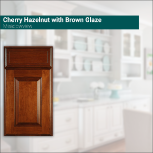 Meadowview Cherry Hazelnut with Brown Glaze