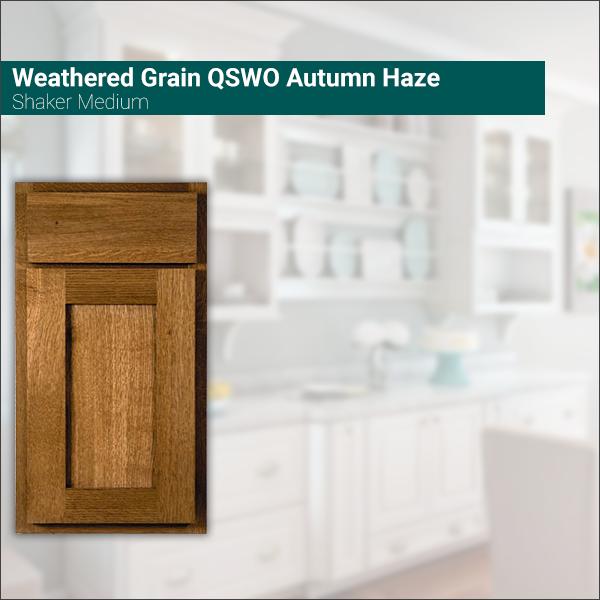 Shaker Medium Weathered Grain QSWO Autumn Haze