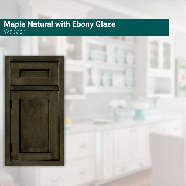 Wabash Maple Natural with Ebony Glaze